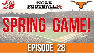 NCAA Football 14 Dynasty - Spring Game Freshmen Showcase [EP 28]