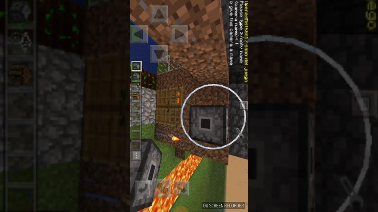 Mod Camara De Seguridad Para Minecraft Pe Youtube