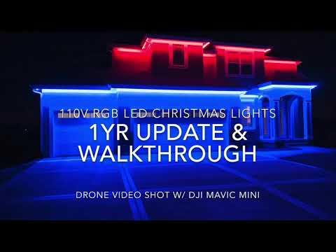 1Yr Update - DIY RGB LED Permanent Christmas Lights 110v with App Walkthrough