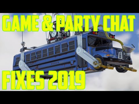 Party Or Game Chat Not Working Fortnite Season 9 Pc/Xbox/PS4