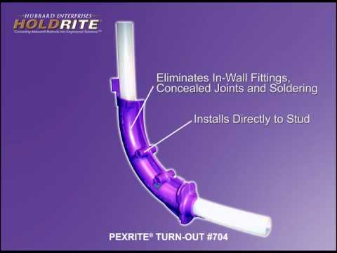 pipe support for pex tubing youtube. Black Bedroom Furniture Sets. Home Design Ideas