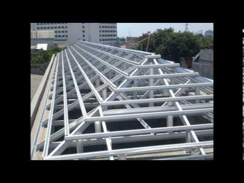 rangka atap baja ringan merk taso pasang jakarta timur 081319133263 youtube
