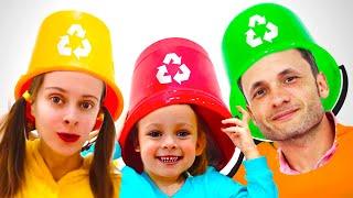 Переработка мусора - Детская песня | Песни для детей с Майей и Машей