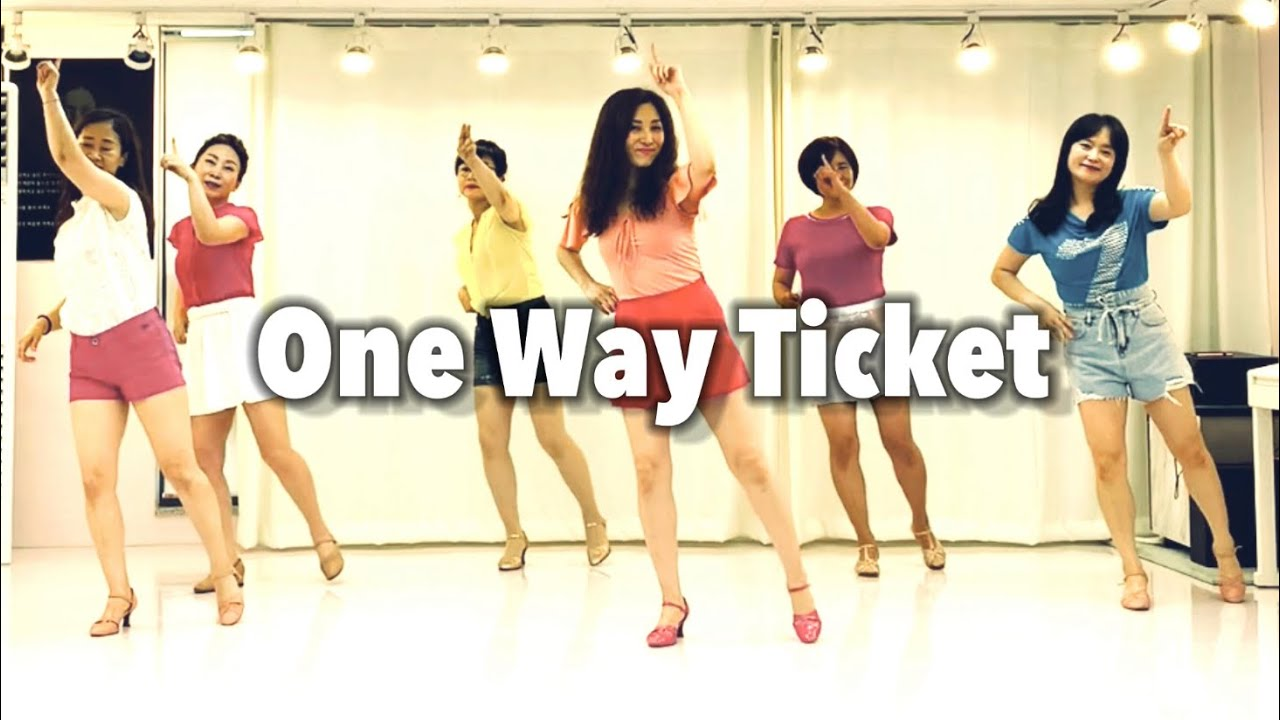 One Way Ticket line dance(Beginner) 원웨이티켓💞