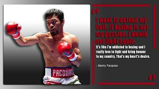 Manny Pacquiao is addicted to boxing | Wants to fight for The Pilipinas | #ThePlug