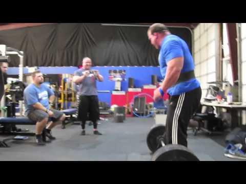 Derek Poundstone and Mark Bell at Poundstone Performance Training Center