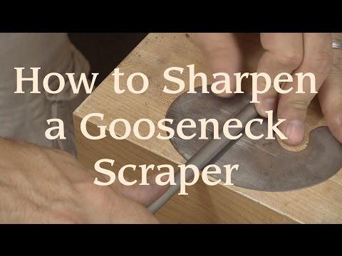How to Sharpen a Gooseneck Scraper
