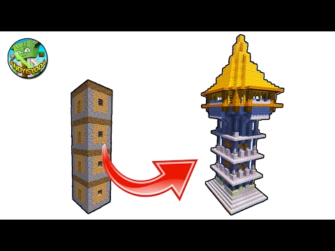 How to transform a Minecraft Village House into a Watchtower