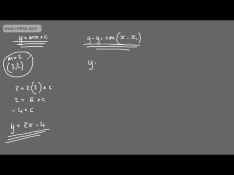 Core 1 - Coordinate Geometry (1) - Introduction to straight line equations