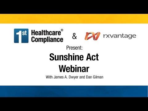 Sunshine Act Webinar