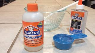 Making Slime with Elmers Magical Liquid