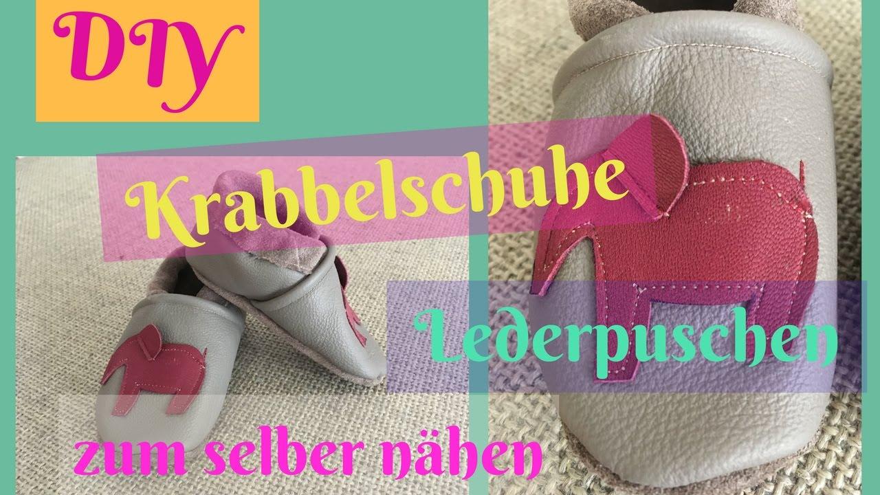 DIY Krabbelschuhe/Lederpuschen zum selber nähen/ Nähanleitung für ...