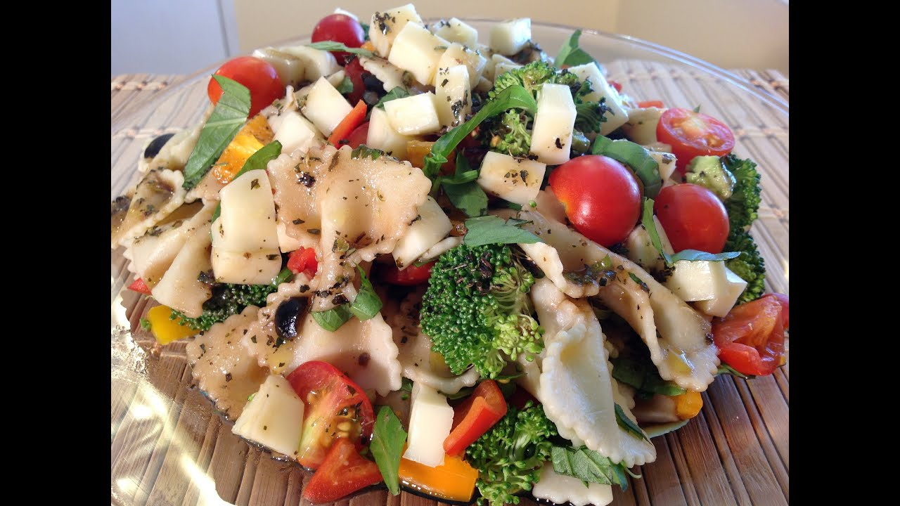Bow tie pasta salad with balsamic vinaigrette dressing italian bow tie pasta salad with balsamic vinaigrette dressing italian food recipes youtube forumfinder