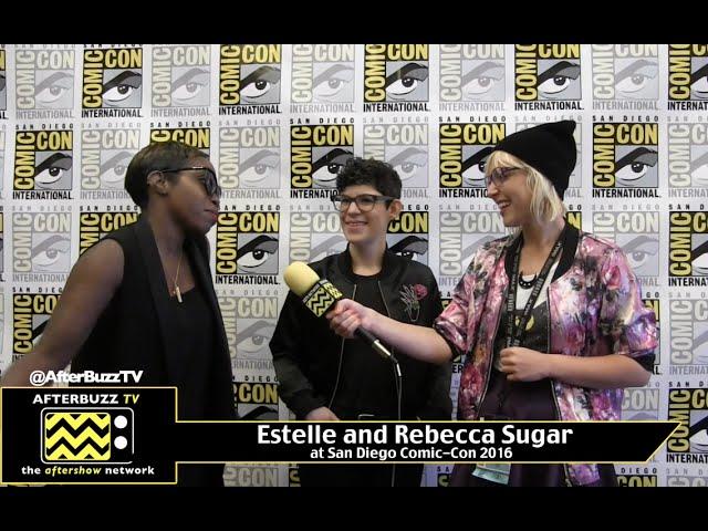 Estelle and Rebecca Sugar (Steven Universe) at San Diego Comic-Con 2016.