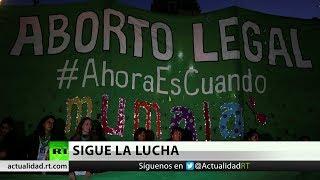 Celebran una manifestación en defensa del aborto en Argentina