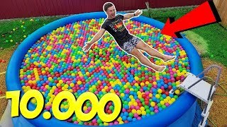 Build Swimming Pool! 10000 Balls In My Pool!!!