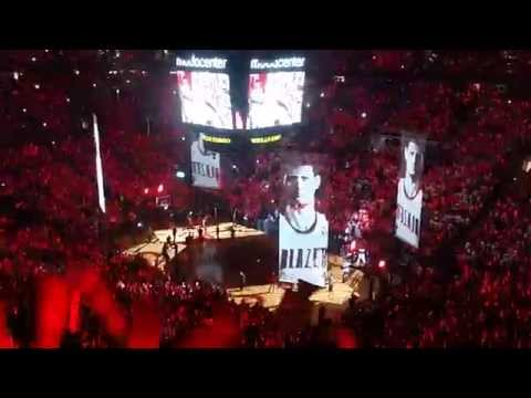 Blazers vs Spurs game 3 playoff intro