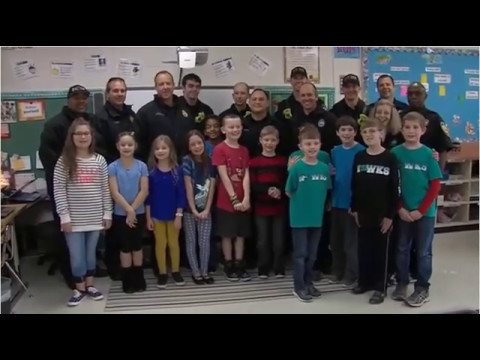 Butts Road Intermediate Students Thank Firefighters