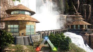 ARK: Homestead - Round Waterfall Houses (Speed Build)