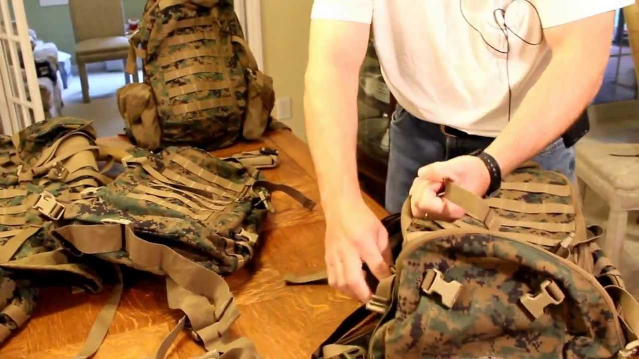 USMC ILBE Assault Day Pack and ILBE Recon Assault Pack - YouTube d890e06dd6