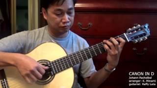Canon in D (2016) - J. Pachelbel (arr. K. Minami) Solo Classical Guitar