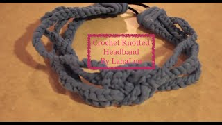 crocheted knotted headband tutorial
