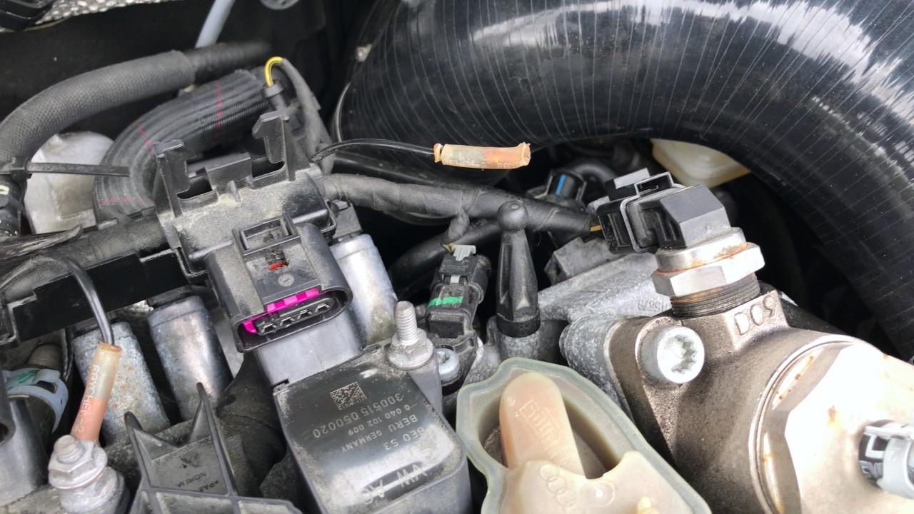 Um, I broke the ground wire on my Golf R's Spark Plug