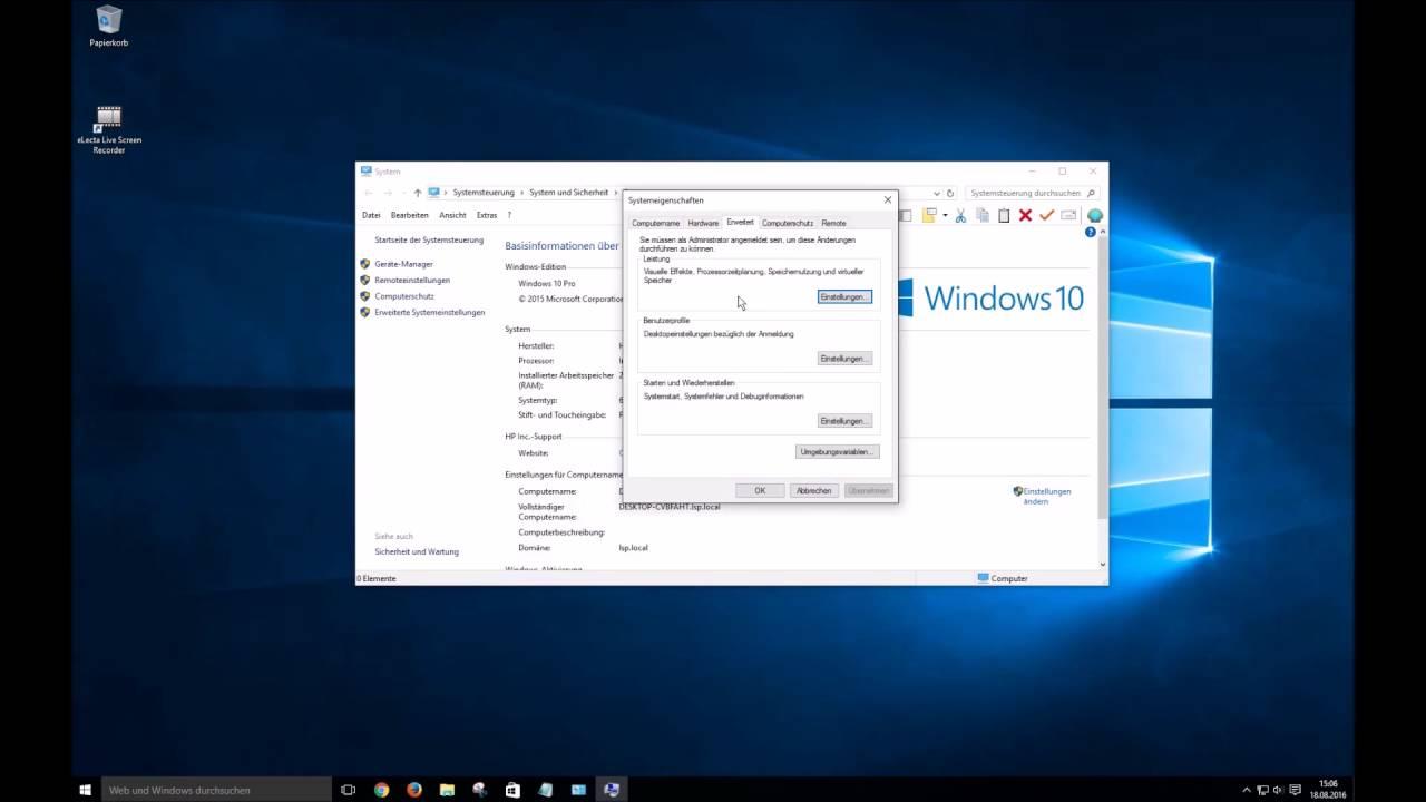 Windows 10 Virtuellen Arbeitsspeicher Deaktivieren