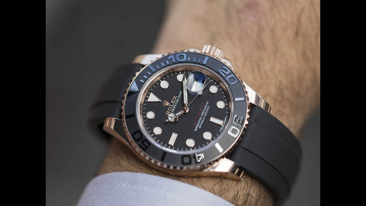 Rolex yachtmaster rose gold black ceramic