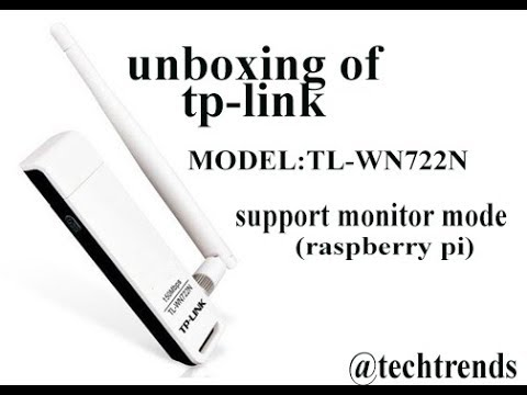 tplink high gain(150mb speed) model TL-WN722N UNBOXING VIDEO(support  monitor mode) for raspberry pi