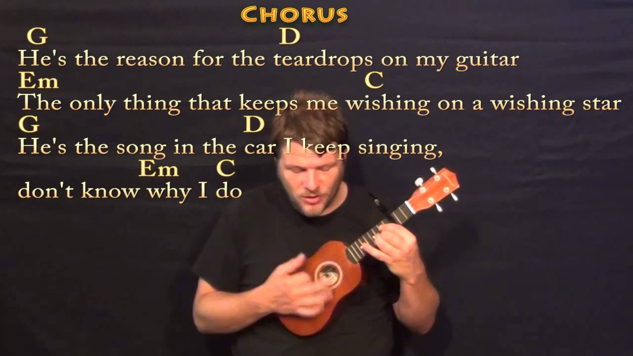 Teardrops On My Guitar Taylor Swift Ukulele Cover Lesson With
