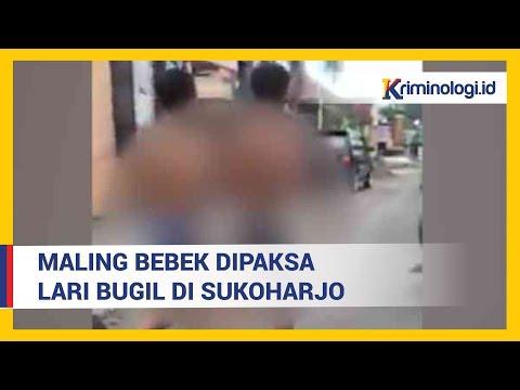 Video Viral Maling Bebek Dipaksa Lari Bugil di Sukoharjo