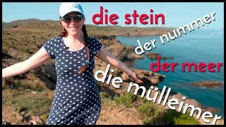 DIE STEIN?! Nouns With A Gender!! German vs. Spanish