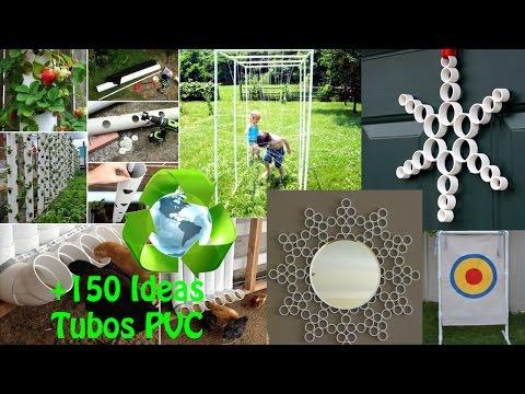 Reciclaje Tubos PVC IDEAS / Recycling PVC pipes IDEAS