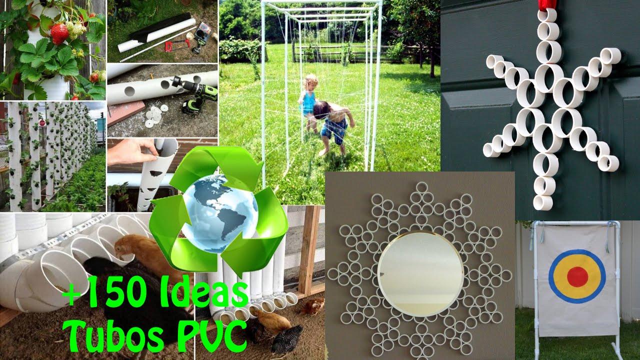 Reciclaje tubos pvc ideas recycling pvc pipes ideas for Casas de pvc para jardin