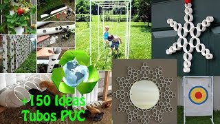 Reciclaje Tubos PVC IDEAS / Recycling PVC pipes IDEAS