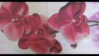 Вышивка бисером. Барвиста вышиванка цветы «Орхидеи». Обзор.