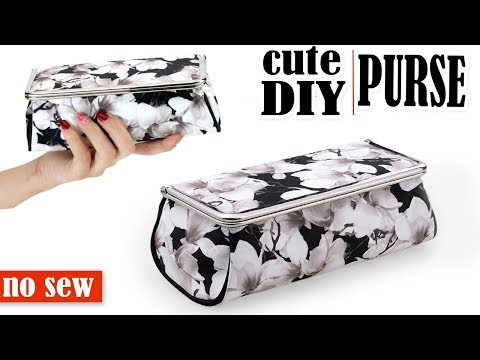 DIY PURSE BAG WITH MIRROW // Toolbox Pouch Storage Case Tutorial No Sew