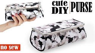 DIY PURSE BAG WITH MIRROW // Toolbox Pouch Storage Case Tutorial No Sew