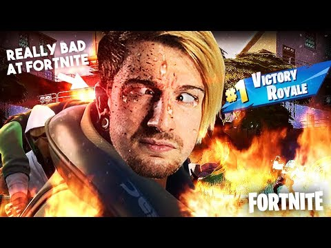 BAD FORTNITE PLAYER PLAYS FORTNITE (And Actually Wins)