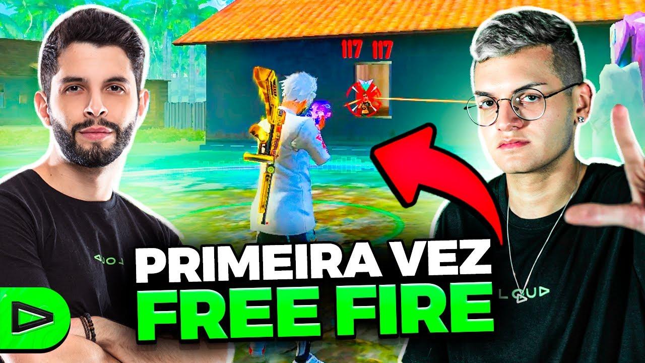 ELE JOGOU FREE FIRE PELA PRIMEIRA VEZ!!!