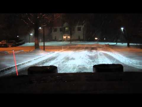 Plowing in a storm - December 2013
