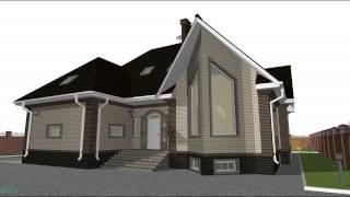 видео Эскизный проект одноэтажного дома с мансардой и гаражом «Норма»  D-125-ТП