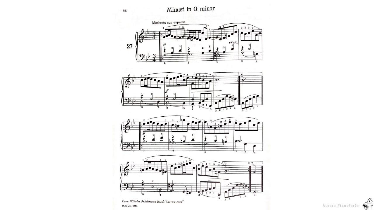 27. Minuet in G minor - Anna Magdalene's Notebook