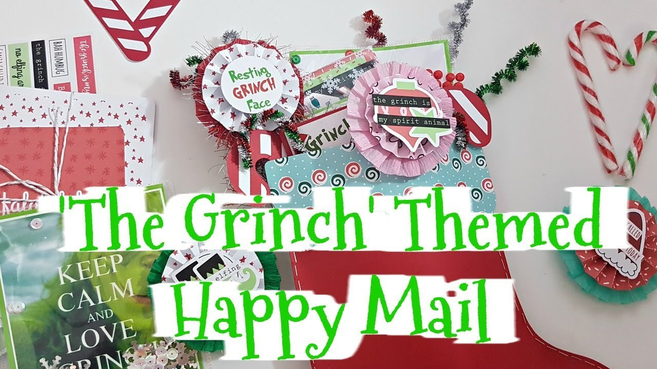 The Grinch\' Themed Happy Mail // Christmas Craft Series with Miss ...