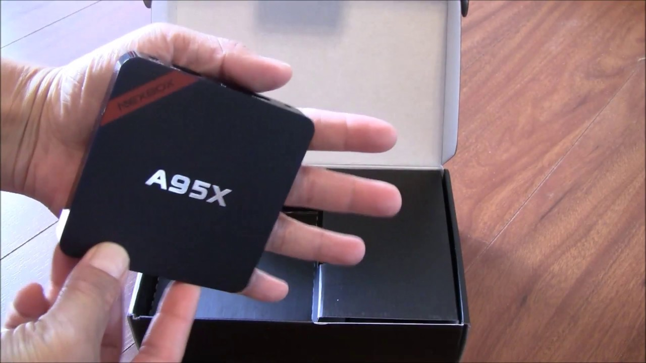 Unboxing review of Nexbox A95X Android TV Box and install Kodi/Elysium