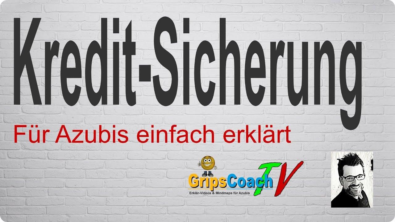 Kreditsicherung einfach erklärt  Prüfungswissen für Azubis ★ GripsCoachTV  YouTube