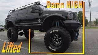 Sexy lift on a 2002 Ford EXCURSION  #BLACKBEAST