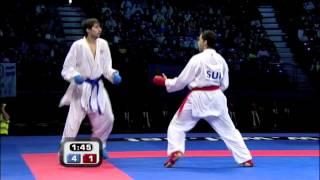 Milos Jovanovic vs Murat Sahin :: WKF Male Kumite Bronze Medal -75kg :: Belgrade 2010