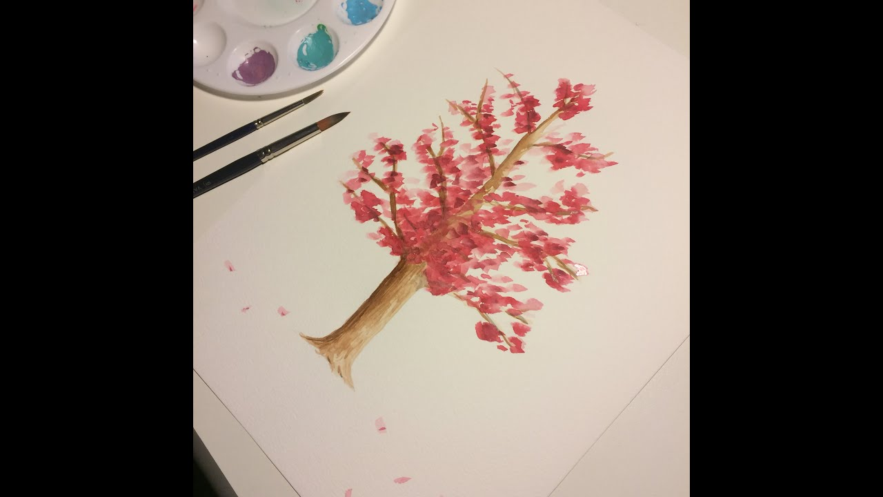 Cómo Pintar Un Cerezo Con Acuarela (básico)